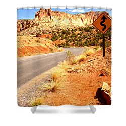 Shower Curtain featuring the photograph Capitol Curves Ahead by Adam Jewell