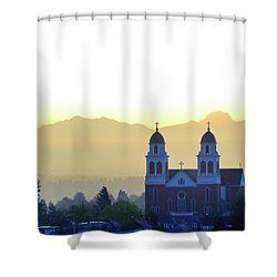 Capitol Hill Sun Up Shower Curtain