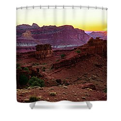 Capitol Reef Sunrise Shower Curtain