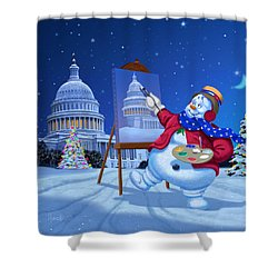 Capitol Snoman Shower Curtain