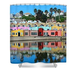 Capitola California Colorful Hotel Shower Curtain