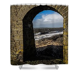 Cappagh Pier And Ireland's Shannon Estuary Shower Curtain