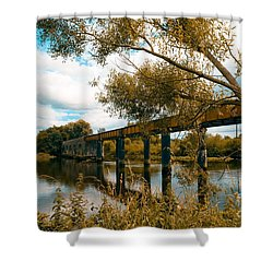Cappaquin Railway Bridge Shower Curtain