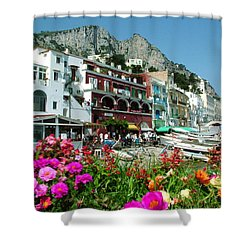 Capri Shower Curtain by Donna Corless