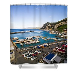 Capri Harbor Shower Curtain