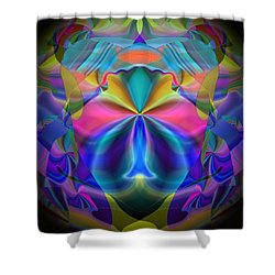 Shower Curtain featuring the digital art Caprice by Lynda Lehmann