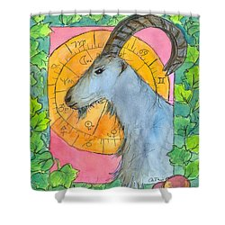 Shower Curtain featuring the painting Capricorn by Cathie Richardson