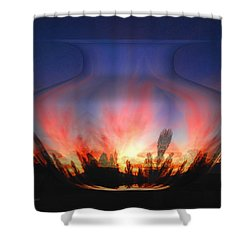 Capricorn Morning Shower Curtain by Joyce Dickens