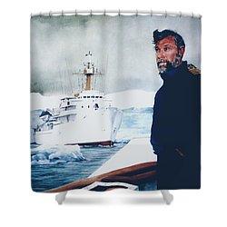 Capt Derek Law Shower Curtain by Tim Johnson