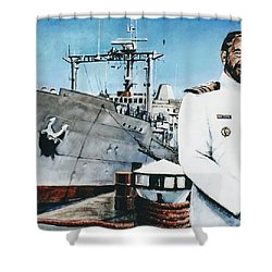 Capt Eric Green Shower Curtain