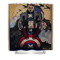 Captain America Recruiting Poster Shower Curtain