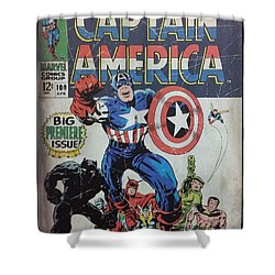 Captain America  Shower Curtain by Rob Hans