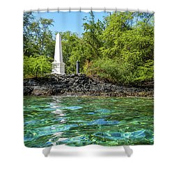 Captain Cook Monument Shower Curtain