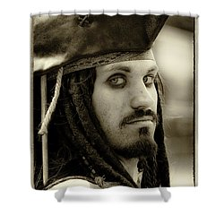 Captain Jack Sparrow Shower Curtain by David Patterson