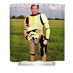 Captain James T Kirk Stormtrooper Shower Curtain by Paul Van Scott