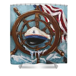 Captain's Home Shower Curtain