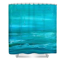 Captain's View Shower Curtain by T Fry-Green