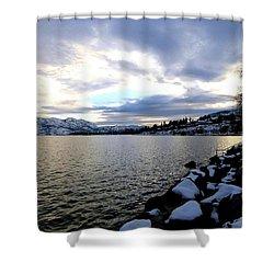 Captivating Okanagan Lake Shower Curtain by Will Borden