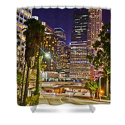 Captive In The City Light Embrace Shower Curtain