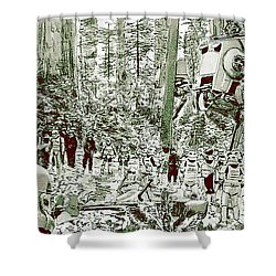 Capture On Endor Shower Curtain