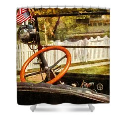 Car - Back To The Old Days Shower Curtain by Mike Savad
