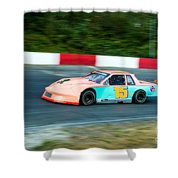 Car 15 In The Lead. Shower Curtain