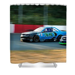 Car 35 Passing 26 Shower Curtain