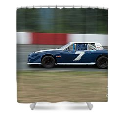 Car 7 In The Turn. Shower Curtain
