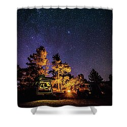 Car Camping Shower Curtain