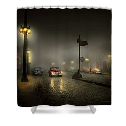 Shower Curtain featuring the photograph Car - Down A Lonely Road 1940 by Mike Savad