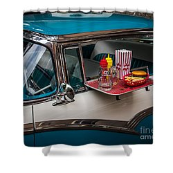 Car Hop Shower Curtain