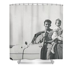 Shower Curtain featuring the photograph Car Ride by Michael Krek