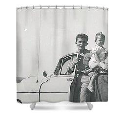 Car Ride Shower Curtain by Michael Krek