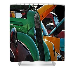 Car Show V Shower Curtain by Robert Meanor