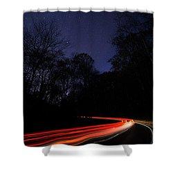 Car Trails Shower Curtain