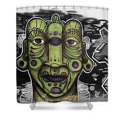 Cara Verde 2 Shower Curtain by Julie Pacheco-Toye
