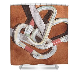 Carabiners Shower Curtain