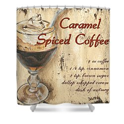 Caramel Spiced Coffee Shower Curtain by Debbie DeWitt