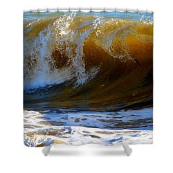 Caramel Swirl Shower Curtain by Dianne Cowen
