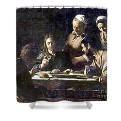 Caravaggio: Emmaus Shower Curtain by Granger
