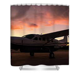 Caravan On The Ramp In The Sunset Shower Curtain