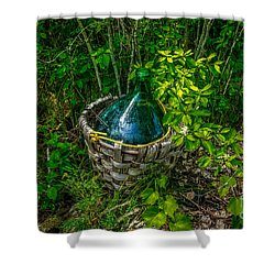 Carboy In A Basket Shower Curtain