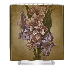 Card Floral Anyttime Shower Curtain