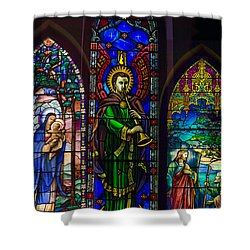Card Merry Christmas Shower Curtain