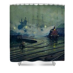 Cardiff Docks Shower Curtain