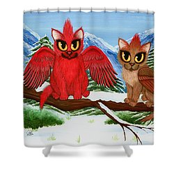 Cardinal Cats Shower Curtain