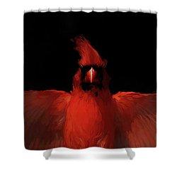 Cardinal Drama Shower Curtain