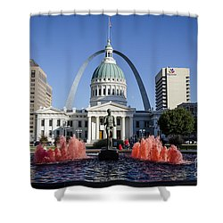 Cardinal Nation Shower Curtain by Andrea Silies