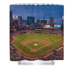 Cardinal Nation Busch Stadium St. Louis Cardinals Twilight 2015 Shower Curtain