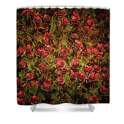 Cardinal Richelieu Roses Shower Curtain